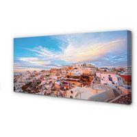 Obrazy, Obrazy na płótnie Grecja Panorama miasto zachód słońca