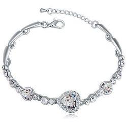 EXCLUSIVE Bransoletka kryształowe serca - kryształkowe