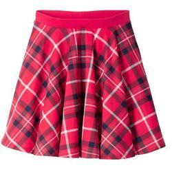 Spódnica dziewczęca w kratę bonprix czerwony w kratę