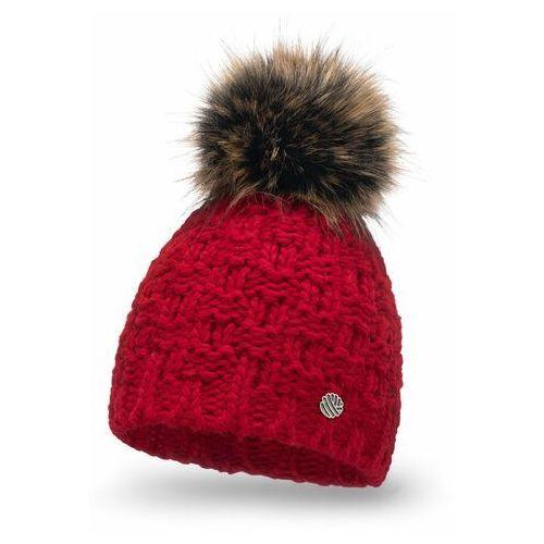 Komplety galanterii, Czerwony komplet damski na zimowe poranki PaMaMi