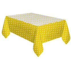 """Obrus foliowy """"groszki"""" żółte 128x181cm"""