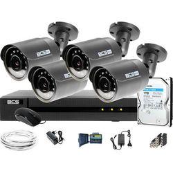 Monitoring Full HD BCS Basic Full HD 2MPx 1TB H265+ 4 x Kamera tubowa 2.8mm IR 30m Rejestrator 8 kanałowy