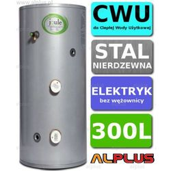Bojler elektryczny 300L JOULE CYCLONE DIRECT nierdzewny grzałki 2x3kW podgrzewacz CWU bez wężownicy, 160cm x 60cm, Wysyłka gratis!