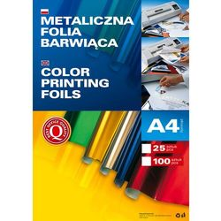 Metaliczna folia barwiąca A4, opakowanie 100 sztuk, niebieska, 361003