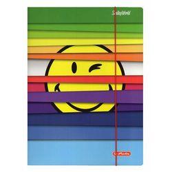 Teczka z gumką A4 rysunkowa Smiley.World HERLITZ - Rainbow