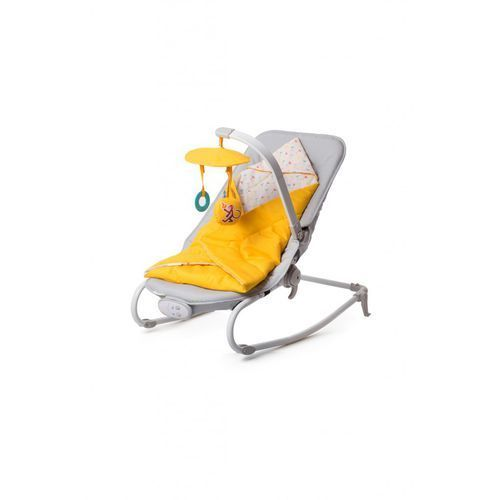Leżaczki, Leżaczek KINDERKRAFT Felio 3 funkcje Żółty + DARMOWY TRANSPORT!