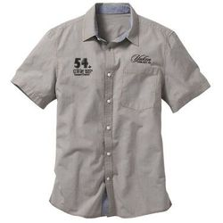 Koszula z krótkim rękawem Regular Fit bonprix ciemnooliwkowy w kratę