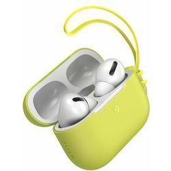 Baseus Let''s go   Silikonowa obudowa etui case do Apple Air Pods   żółty - Żółty