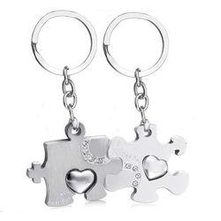 BK913 brelok do kluczy dla zakochanych puzzle z grawerem