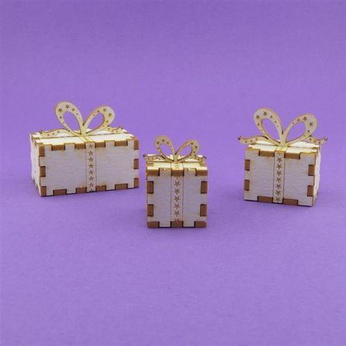 Ozdoby świąteczne, Ozdobna tektura - prezenty pod choinkę 3D