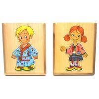 Pozostałe zabawki dla najmłodszych, Układanka Drewniana Dzieci-ubieranie
