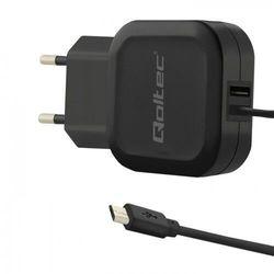 Ładowarka sieciowa Qoltec 50189 (3400 mA; 17W; Micro USB, USB)
