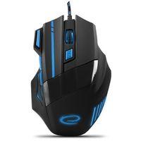 Myszy komputerowe, Myszka przewodowa dla graczy 7D opt. usb Esperanza MX201 Wolf niebieska