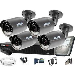 2560×1440 4MPx 4x BCS-B-MT42800 BCS Basic zestaw do monitoringu Dysk 1TB Akcesoria