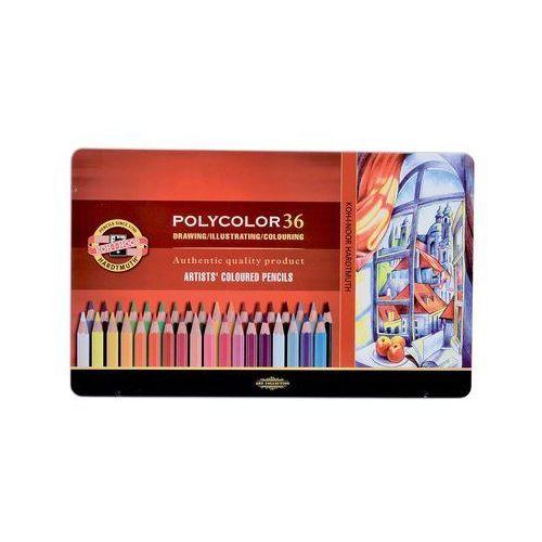 Kredki, Kredki Polycolor w metalowej kasecie 36 kolorów