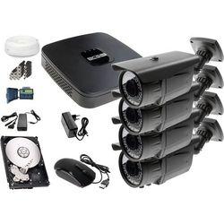 Zestaw do monitoringu: Rejestrator BCS-XVR0801E, 4x Kamera LV-AL60HVT, 1TB, akcesoria