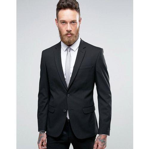 Marynarki męskie, New Look Skinny Fit Suit Jacket In Black - Black