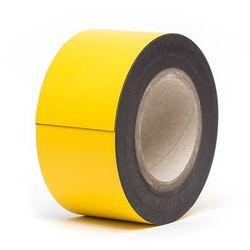 Magnetyczna tablica magazynowa, żółte, rolka, wys. 70 mm, dł. rolki 10 m. Zapewn