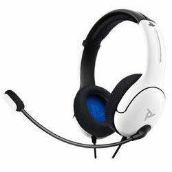 Zestaw słuchawkowy PDP LVL40 Wired Biały do PS4/PS5