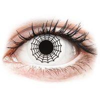 Soczewki kontaktowe, Soczewki kolorowe białe SPIDER Crazy Lens 2 szt.