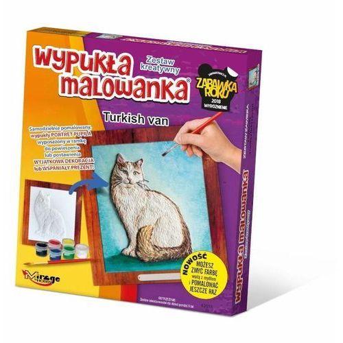 Kolorowanki, Wypukła Malowanka - Kot Turecki Van