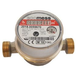 Wodomierz do ciepłej wody Ecomess Picoflux 1/2 1 6 m3/h