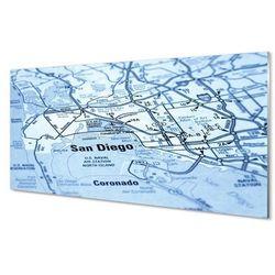 Obrazy na szkle Mapa miasta