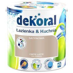 Farba satynowa Dekoral Łazienka i Kuchnia caffe latte 2 5 l