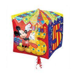 Balon foliowy Sześcian Myszka Mickey na 5 urodziny - 38 cm - 1 szt.