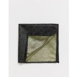 Moss London pocket square with metallic dot - Gold