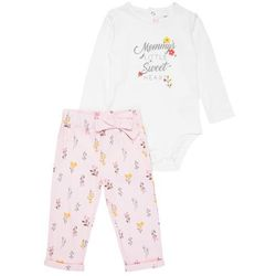 Carter's GIRL MOMMYS LITTLE SWEET HEART BABY SET Body ivy ivory