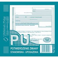 Druki akcydensowe, Potwierdzenie zmiany stanowiska PU Michalczyk&Prokop 560-4 - 2/3A5 (oryginał+kopia)