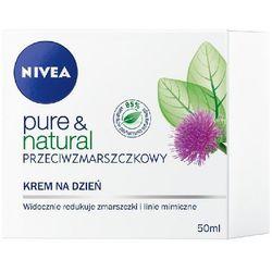 Nivea Pure&Natural Krem Przeciwzmarszczkowy na Dzień 50ml