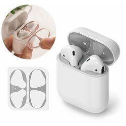 Ringke 2x folia ochronna naklejka osłony przeciw kurzowi do etui bazy słuchawek Apple AirPods 2 / AirPods 1 srebrny (ACER0001)