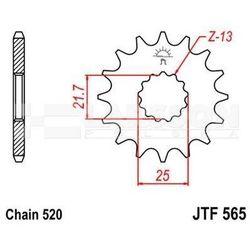 Zębatka przednia JT F565-17, 17Z, rozmiar 520 2201353 Yamaha WR 450, Kawasaki KX 250