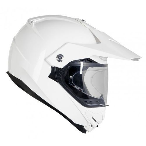 Kaski motocyklowe, OZONE MXT-01 PINLOCK READY WHITE Kask duale