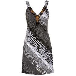 Sukienka letnia bonprix czarno-biały wzorzysty