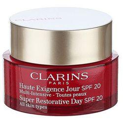 Clarins Super Restorative krem liftingujący na dzień przeciw zmarszczkom do każdego rodzaju skóry SPF 20 (Day Illuminating Lifting Replenishing Cream