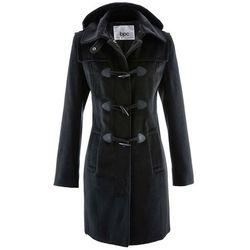 Krótki płaszcz z kapturem bonprix czarny