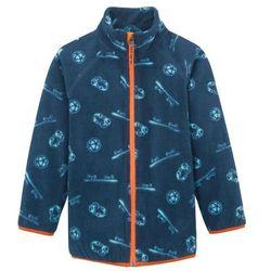 Bluza rozpinana z polaru bonprix ciemnoniebieski wzorzysty