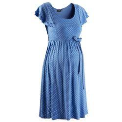Sukienka ciążowa w kropki bonprix błękitny w kropki