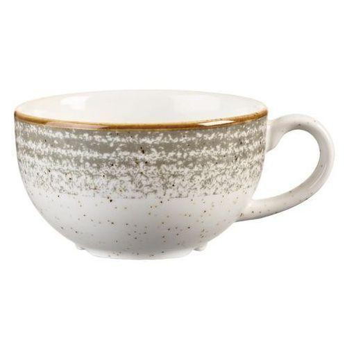 Filiżanki, Filiżanka do cappucino 0,227 l | CHURCHILL, Homespun Style Stone Grey