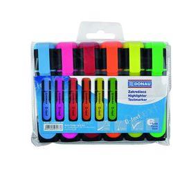 Zakreślacz fluorescencyjny DONAU D-Text, 1-5mm (linia), 6szt., mix kolorów
