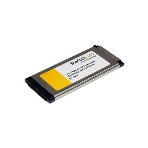 Karty PCMCIA i ExpressCard, StarTech.com 1 Port Flush Mount ExpressCard SuperSpeed USB 3.0 Card Adapter