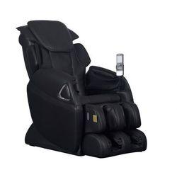 Fotel masujący LETO z obiciem skóropodobnym - System wprowadzający w stan nieważkości (antygrawitacyjny) - Czarny