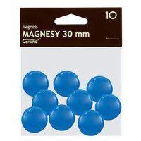 Pozostałe artykuły szkolne, Magnesy 30 mm niebieskie 10 sztuk