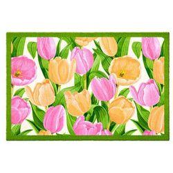 """Wycieraczka """"Tulipany"""" bonprix jasnoróżowy"""