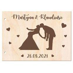 Księga gości weselnych personalizowana - Para Młoda - A5 - 32 str.