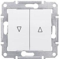 Włączniki, Przycisk żaluzjowy Schneider Sedna SDN1300121 roletowy z blokadą elektryczną biały