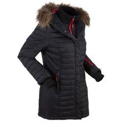 Długa kurtka outdoorowa pikowana bonprix czarny